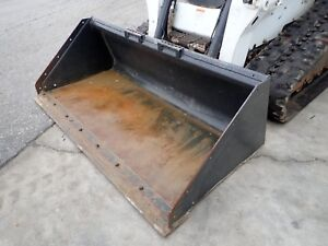 Bobcat 80 Snow Bucket For Skid Steer Loaders Ssl Quick Attach fits Many Models