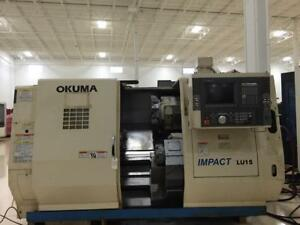 Used Okuma Impact Lu15 2sc 600 Cnc Turning Center Lathe Osp e100l 10 Chuck 2002