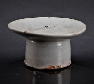 Antique Joseon Period Korean Buncheong Glazed Pottery Offering Stand Food Dish 3