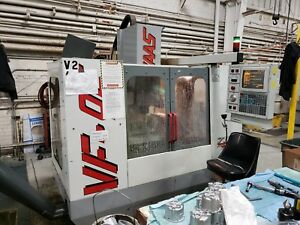 Used Haas Vf oe Cnc Vertical Machining Center Mill 1996 Hrt 210 Rotary Table