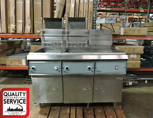 Pitco F14rss elqv Commercial Double Fryer W Dump Station Filter