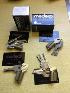 4 New Medeco Security Padlock Sg Cylinder Biaxial High Security 4keys 866m