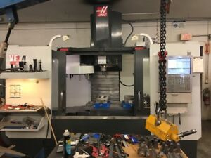 Used 2014 Haas Vf 4 Cnc Vertical Machining Center Mill Wips Ct40 Usb Intuitive