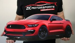 2019 Ford Mustang Shelby Cobra Gt350 Cutout Garage Steel Sign 23 X 10 Race Red