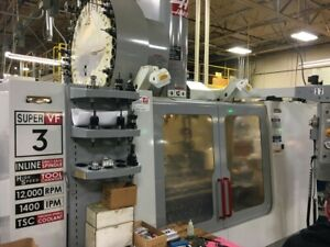 Used 2005 Haas Vf 3ss Cnc Vertical Machining Center 40x20 Mill 12k Super Speed