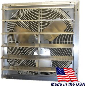 Shutter Mounted Exhaust Fan 115 volt Electric Variable Speed Aluminum Wall Mount
