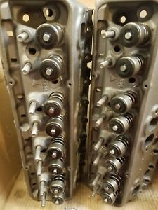 1963 Sbc Heads Corvette Chevy 2 327 Cylinder Heads 896 Unleaded Conversion
