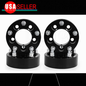 4pcs 2 Thick 6x5 5 To 6x5 5 Black Hubcentric Wheel Spacers For Gmc Sierra 1500