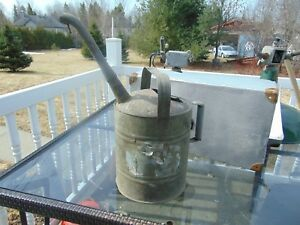 Vintage Antique Watering Can Nice 5866