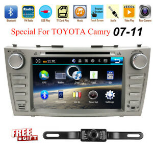 For Toyota Camry 2007 2011 Gps Navigation 8 Car Radio Stereo Dvd Player camera