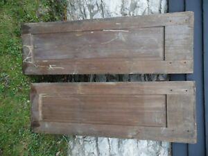 2 Antique Cabinet Doors Cupboard Vintage Pair Pegged Joints 55 5 8 18 1 2