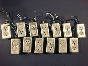 Lot Of 13 Industrial Electrical Outlets All Boxes In Excellent Condition