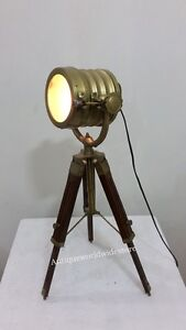 Retro Design Marine Table Lamp Vintage Spot Tripod