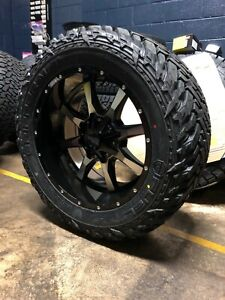 20x10 Moto Metal Mo970 33 Fuel Mt Wheel And Tire Package 8x170 Ford F250 F350