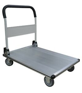 Tyke Supply Commercial Aluminum Platform Dolly Flat Bed Rolling Cart Fw 99b