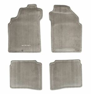 2000 2003 Nissan Maxima Frost Gray Carpeted Floor Mats Front Rear Set Oem New