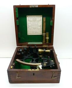 Antique 1943 Husun Sextant Made By Henry Hughes Sons Ltd London Free Shipping