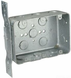 Steel City Electrical Box Switch Outlet 3 gang New Work Bracketed Metal