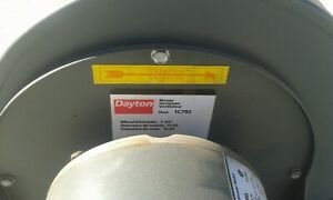 Dayton Industrial Blower Model 1c792 With Motor Model 6k030g