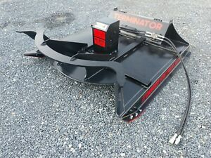 Brush Cutter For Skid Steer Ctl And Mtl 60 Rut Mfg Terminator 17 26 Gpm