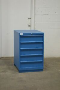Used Lista 5 Drawer Cabinet 36 Tall 22 Wide Bench Storage 1639 Vidmar