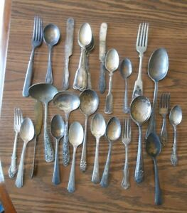 Lot Of 34 Pieces Of Vintage Silver Plated Flatware Rogers Melody Carlton