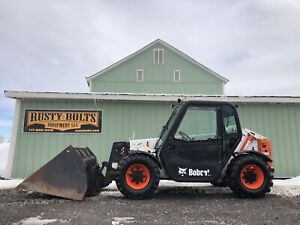 2012 Bobcat V417 4x4 Telehandler Forklift With Bucket Low Cost Shipping