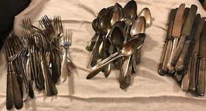 Vintage Silver Plated Silverware 78 Pcs Rogers Bros Tudor Other