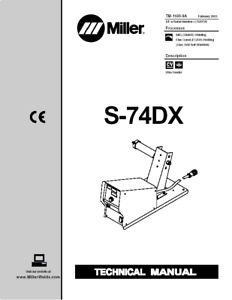 Miller S 74dx Service Technical Manual