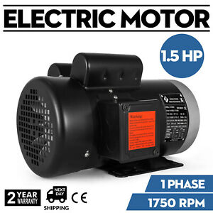 141556c Electric Motor 1 5hp 1phase 1750rpm 5 8 shaft Tefc Insulation F Cw ccw