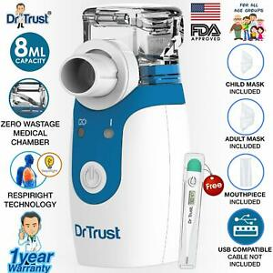 Dr Trust Portable Ultrasonic Mesh Nebulizer Machine Cool Mist Inhaler
