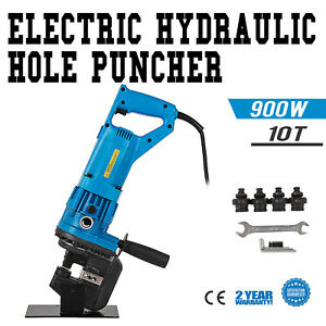 900w Electric Hydraulic Hole Punch Mhp 20 With Die Set Metric 10t Metal Hot