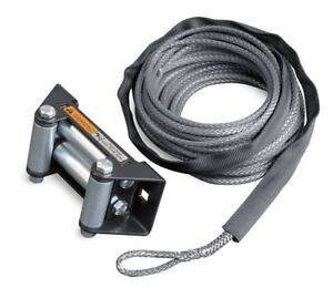 Warn Industries Synthetic Winch Rope Replacement Kit With Roller Fairlead 72128