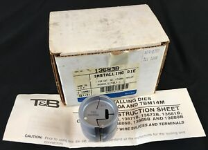 Thomas Betts 13683 13683b Die For 22l008 Series Dragon Tooth Crimp Connector