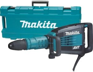 Makita Electric Demolition Hammer 14 amp Corded Case Side handle Variable Speed