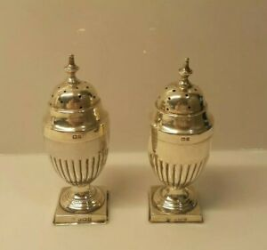Sterling Silver Salt Pepper Shaker English With Hallmarks 3 1 2