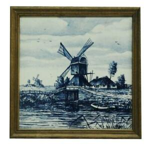 French Windmill Framed Tile