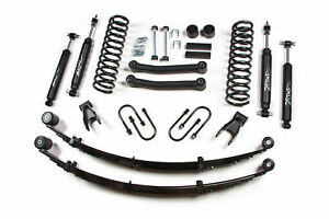 Jeep Cherokee Xj 4 5 Lift Kit W rear Leaf Springs 1984 2001 Zone Offroad j24