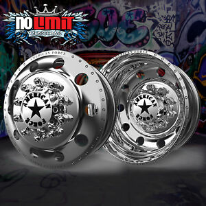 New American Force Classic 22x8 25 Dually Truck Wheels Rims Ford F450 Gmc Chevy