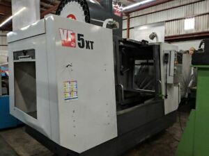 Used 2012 Haas Vf 5xt 50 Taper Cnc Vertical Machining Center Mill Wips Gear Box