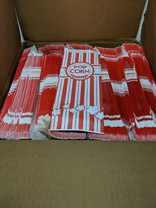 Carnival King Paper Popcorn Bags 2 Oz Red White at Least 1700 Bags Left