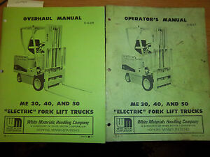 White Forklift Truck me30 me40 me50 operator maintenance overhaul service Manual