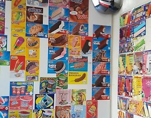 100 Ice Cream Truck Decal Stickers Sandwichs bars bomb Pops cones