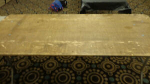 Lot Of 5 72 X 30 Wooden Folding Banquet Tables