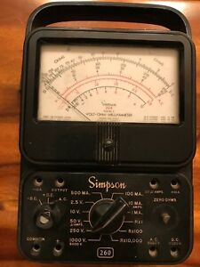 Simpson 260 Vintage Multimeter Vom Analog Volt Ohm