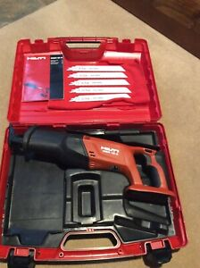Hilti Wsr 18 a Cordless Resiprocating Saw With Case And Blades Unused