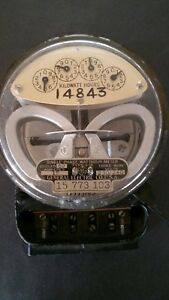 Vintage Ge General Electric Single phase Watthour Meter