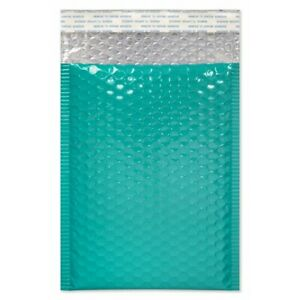 50 Pack 6x10 Teal Metallic Series Strong Heavy Duty Glamour Bubble Mailers 0