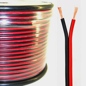 Real 2 Gauge Cable Red And Black Very Flexible 40feet Black 40 Feet Red
