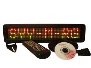 Tri color Led Programmable Display Indoor Sign Wireless Remote 17 x4